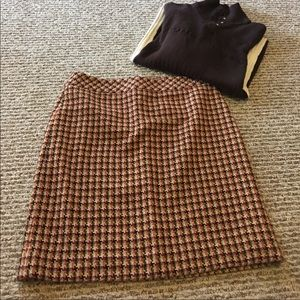 Good condition, Loft wool plaid skirt.